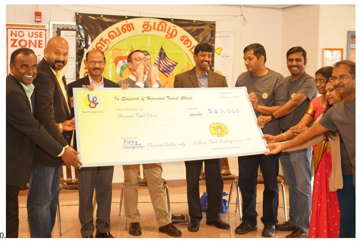 40000 $ Raised from Valluvan Tamil School